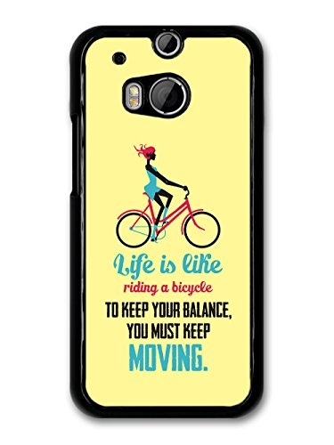 a Bicycle Albert Einstein Life & Love Inspirational Quote case for HTC One M8 ()