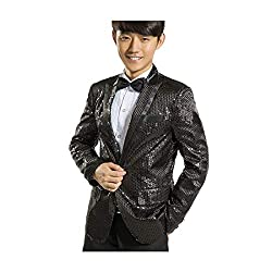 Men's Sequins Tuxedo Suit And Pant Set