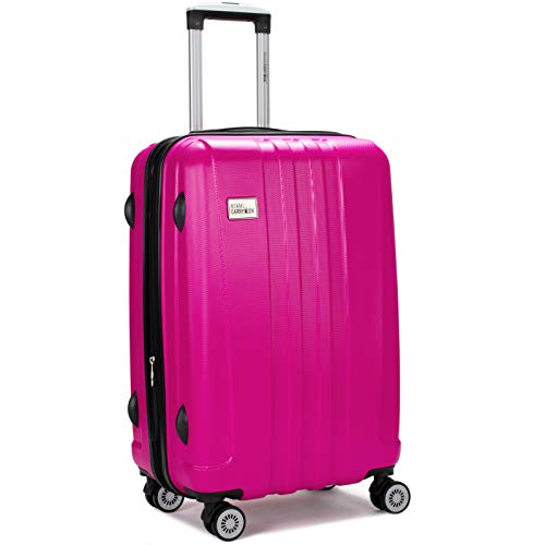 Miami CarryOn Rio Expandable Hardside Spinner Carry-on Suitcase with Lock (Hot Pink, 20