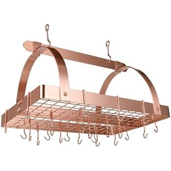 Amazon Com Old Dutch Rectangular Hanging Pot Rack With