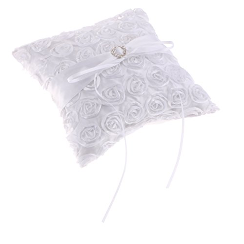 SM SunniMix Fashion White Heart Rhinestone Roses