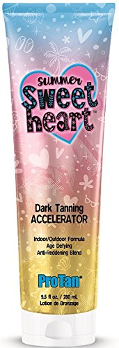 PRO TAN SUMMER SWEET HEART TANNING ACCELERATOR 280ML TUBE CREAM LOTION FOR SUNBED USE