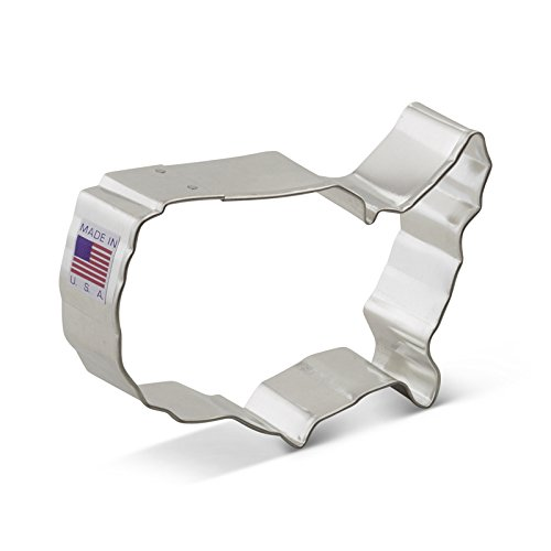 Flag Cookie Cutter - Ann Clark USA Map Cookie Cutter - 4 Inches - Tin Plated Steel