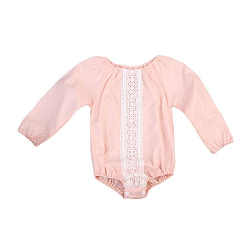 Imcute Baby Girls Clothes Long Sleeve Lace Romper Jumpsuit Outfit