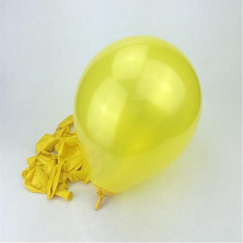 Sopeace Wedding Decoration Balloons Baby Blue Latex 100 Pcs 10 inch Air Balls Happy Birthday Party Helium Inflatable Ballons Kids 1.5g (Yellow) (Order Ballons)