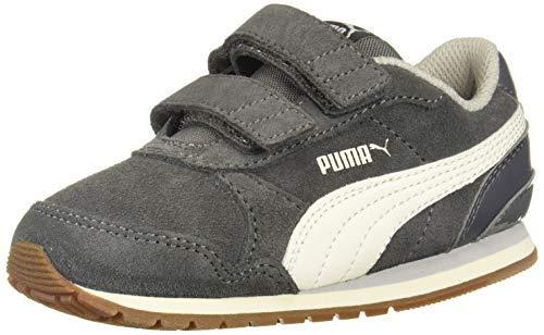 PUMA Unisex ST Runner Velcro Sneaker, Gibraltar sea-Whisper White-Gray Violet, 12 M US Little Kid