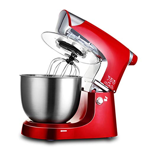 1000W Electric Food Stand Mixer,3-In-1 Beater/Whisk/Dough Hook, 4 Speeds With 5 Litre Mixing Bowl And Splash Guard,Red