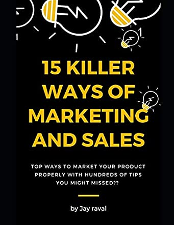 15 Killer Ways of Marketing and Sales