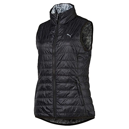 (Puma Golf Women's 2018 PWR Warm Reversible Vest, Small, Puma Black-Quarry)