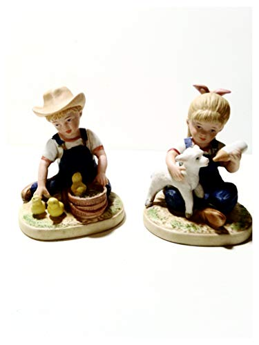 Denim Days New Beginnings #1500, First in Series. Home Interiors Figurines 4 3/4 Inches.