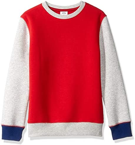 Amazon Essentials Boys Fleece Crew-Neck Sweatshirts