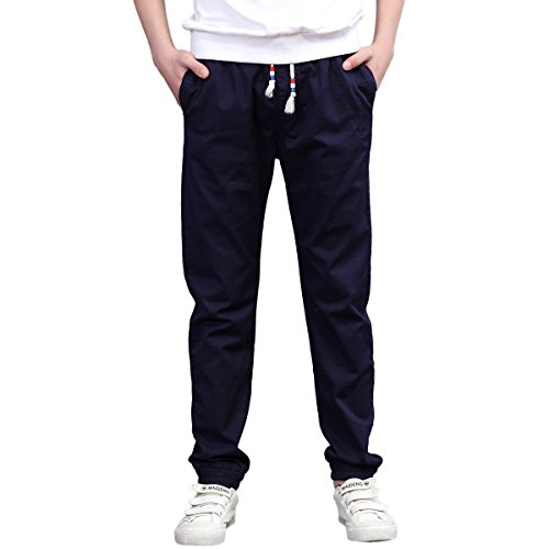 CNMUDONSI Jogging Pants for Boys 7-16 Years Old Kids Casual Active Pants Slim Fit ()