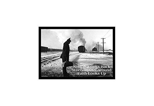 ''Sorrow Looks Back -Worry Looks Around - Faith Looks Up'' Print (Canvas 24x36) by Buyenlarge