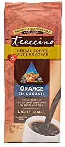 Teeccino Orange Herbal Coffee Alternative, Caffeine Free, Acid Free, 11oz (Pack of 3)