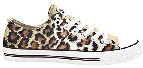 Mujer Marrón Para Sneaker´s Modell De Zapatillas marrón Blanco Clogs Giraffe Lona Mb nfwC7Bqqz