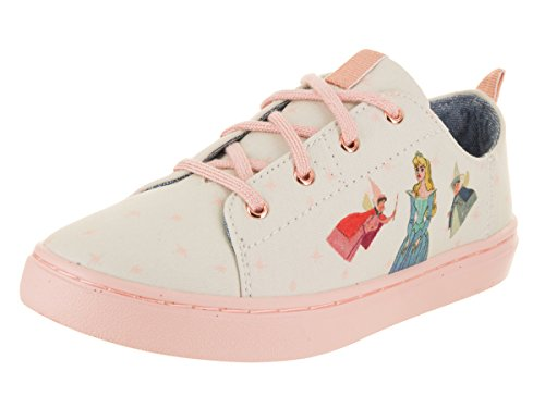 TOMS Kids Girl's Lenny Disney Princesses (Little Kid/Big Kid) Natural Fairy Godmother Printed Canvas 2 M US Little Kid