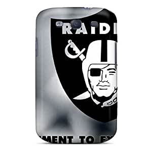 Karencases Scratch-free Phone Case For Galaxy S3- Retail Packaging - Oakland Raiders