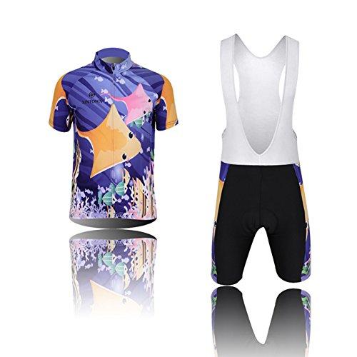 LPATTERN Short Sleeve Children Kids Boys' Cycling Jersey Set Top/Pants/Shorts/Bibs (3D Padded Shorts)