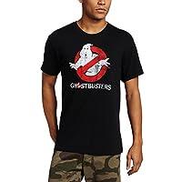 Camiseta de disfraz con logo de Ghostbusters para hombre, negro