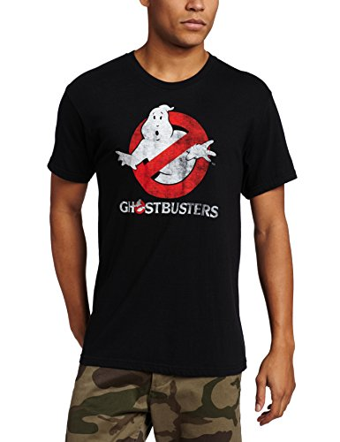 Ghostbusters Men's Logo To Go T-Shirt, Black,