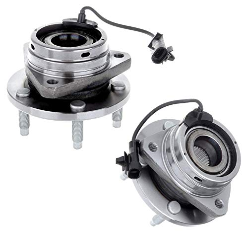 Bodeman - Pair 2 Front Wheel Hub and Bearing Assembly for 04-12 Chevy Malibu (w/ABS; Exc. Classic)/ 05-10 Pontiac G6 w/ABS/ 07-09 Saturn Aura/ 08-10 Chevy HHR & Cobalt (SS Model)