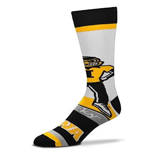 For Bare Feet Iowa Hawkeyes Mascot Socks, Large