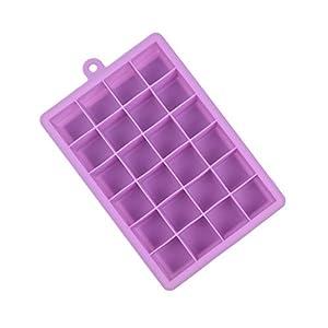 OUNONA Stampo per Cubetti di Ghiaccio in Silicone Vaschette da 24 Cubetti Viola 2 spesavip