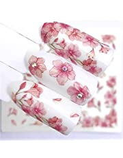 Nail Stickers 1 PC Watermark Slider Nail Stickers Decal Water Transfer Tattoo Flower Butterfly Decoration Manicure Adhesive Tip