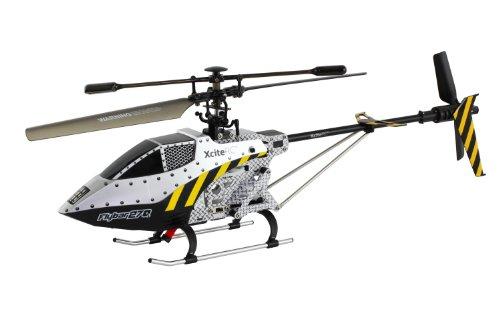 XciteRC 12500000  RC Hubschrauber Flybar 270L Single Blade - 3.5 Kanal RTF mit 2.4 GHz Fernsteuerung, L, silber
