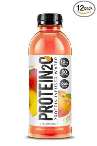Protein2o Low Calorie Protein Infused Water, 10g Whey Protein Isolate, Peach Mango (16.9 oz, Pack of 12)