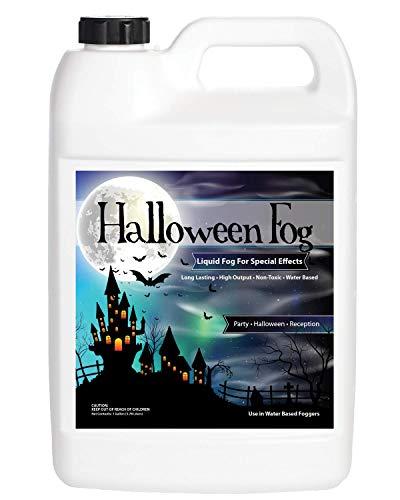 Sanco Industries Halloween Fog Juice - 1 Gallon of Organic Fog Fluid- Medium Density, High Output, Long Lasting Fog Machine Fluid Made in USA ()