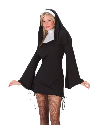 FunWorld Women's Naughty Nun, Black, M/L 10-14 Costume