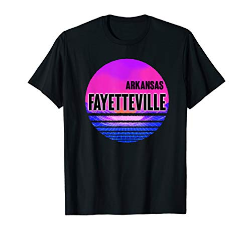 Vintage Fayetteville Shirt Vaporwave Arkansas]()