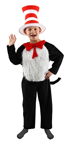 elope Cat in the Hat Deluxe Kids Costume, M (8-10)