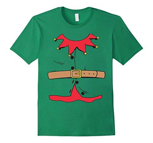 Men's Christmas Elf Costume T-Shirt 3XL Kelly