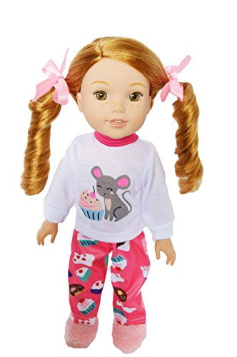 Brittany Cup - Brittany's My Cupcake Pjs for Wellie Wisher Dolls-/Glitter Girl Dolls and Hearts to Hearts Dolls-14 Inch Doll Clothes