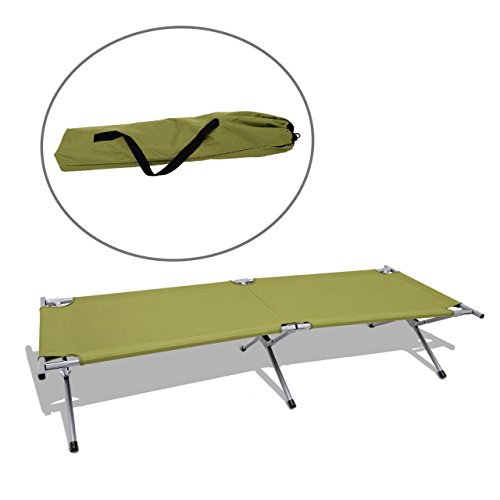 Portable Folding Cot Outdoor Camping Military Hiking Backyard Picnic Medical Bed Sleeping w/ Carry Bag Green #218 (Outdoor Furniture Clearance Perth)