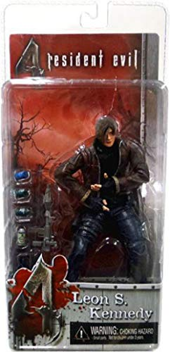 Resident Evil 4 Leon Halloween Costumes (NECA Resident Evil 4 Series 1 Action Figure Leon S. Kennedy with)