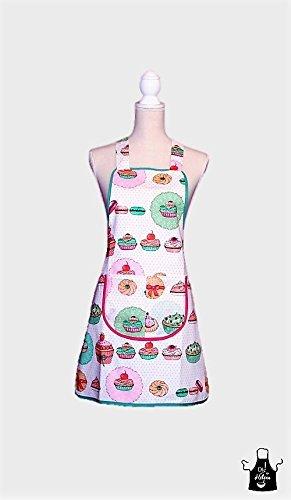 aa6c446c5c7 kasualCake- Delantal de cocina femenino vintage: Amazon.es: Handmade
