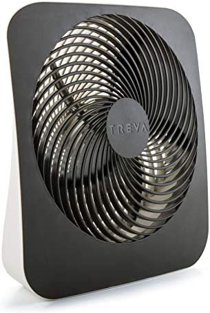 Treva 10-Inch Portable Desktop Air Circulation Battery Fan – 2 Cooling Speeds – With AC Adapter