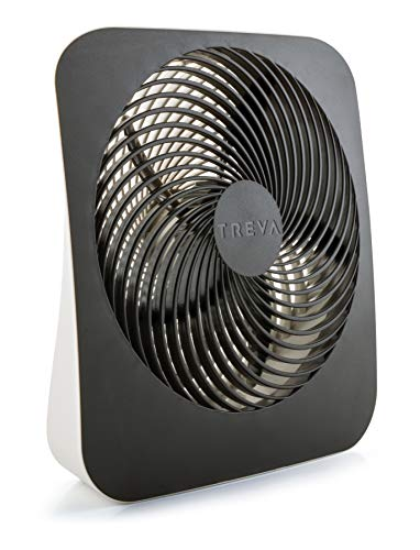 Treva 10-Inch Portable Desktop Air Circulation Battery Fan - 2 Cooling Speeds - With AC Adapter -
