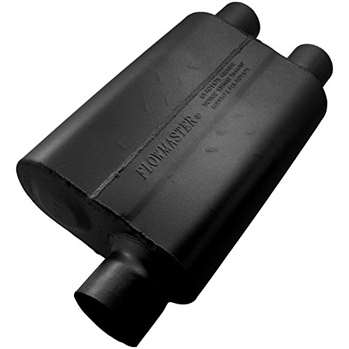 Flowmaster 9430412 40 Delta Flow Muffler - 3.00 Offset IN / 2.50 Dual OUT - Aggressive Sound