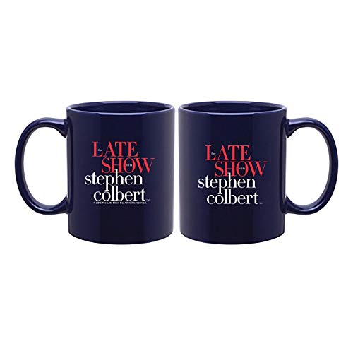 The Late Show with Stephen Colbert Mug, 11 oz. Navy - Official Mug As Seen On CBS