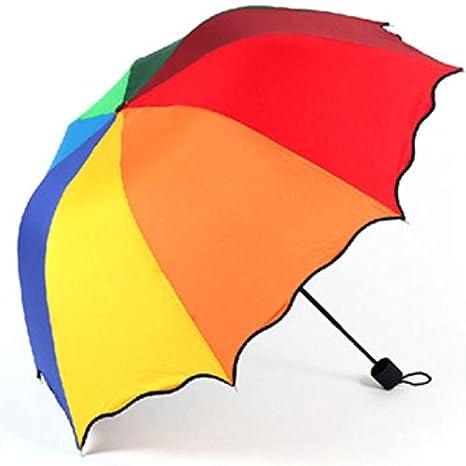 Rainbow parapluie cadre en caoutchouc noir en acier poignée anti-dérapant fort parapluie coupe-vent peut accueillir deux personnes coloré manuel automatique semi-automatique hommes et femmes