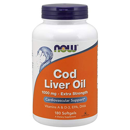 (Now Cod Liver Oil 1000 mg, 180 Softgels)