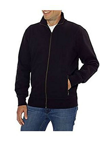 Kirkland Signature Mens Full Zip Sweatshirt (Small, Black)