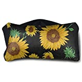 Eye Pillow Summer Floral Flower Sunflower Brown Personalized Eye Bag Cover Womens Portable Blindfold Train Sleep Protection