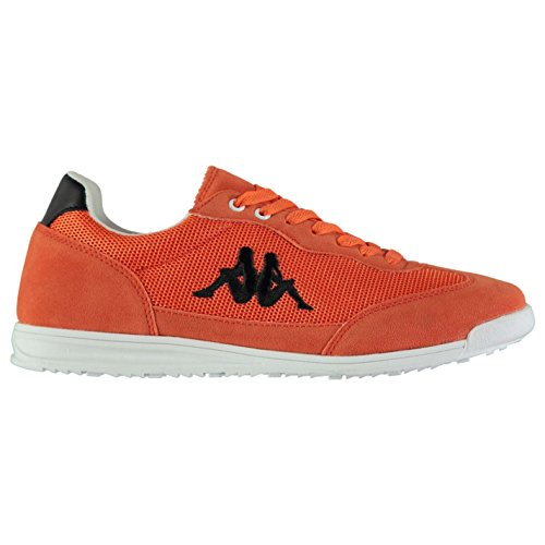 Kappa Mens Mossa Trainers Low Lace up Cushioned Ankle Collar Suede Orange UK 7 (41)