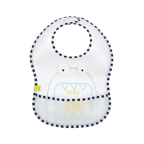Lassig EVA Baby Bib Little Monsters, Bouncing Bob, 6-24