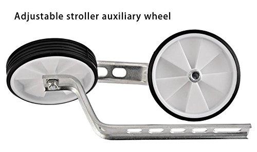 2pcs Kids Training Wheel, 12 20 Inch Universal Childrens Bike Stabiliser, Silver